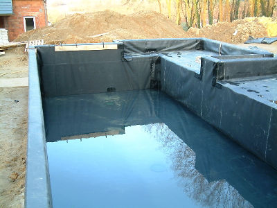 Bassin koi naturel for Piscine avec bache epdm