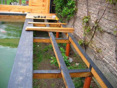 construire un bassin en bois good bassin with construire. Black Bedroom Furniture Sets. Home Design Ideas