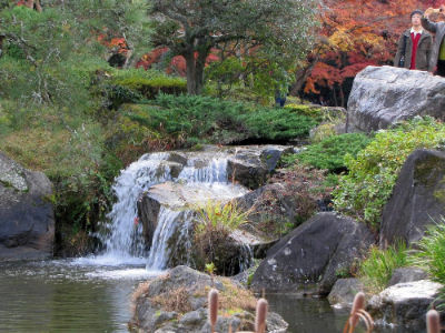 Une cascade du Shinshoji Tempel