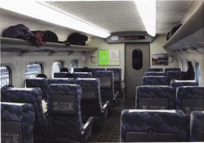 La cabine du Shinkansen