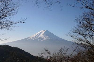Le départ avec vue Du Fushijama