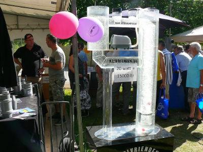 Déplacer de l'eau avec une pompe à air