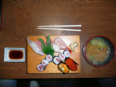 Le plat de shushi