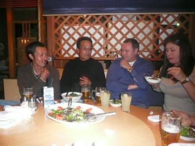 Le repas avec Sakai
