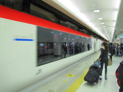 Le train Narita/tokio