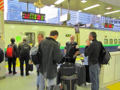 Attente du Shinkansen