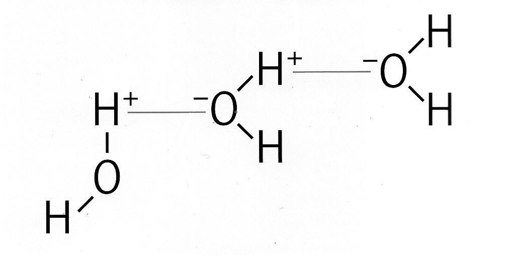 Liaison atomique de l'eau