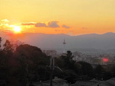 Le crépuscule sur Kyoto